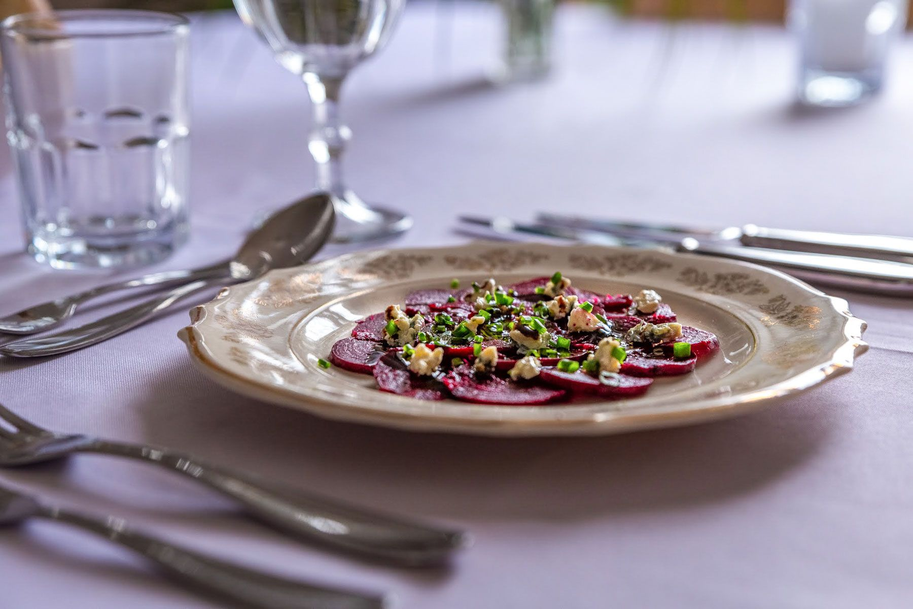 Beetrot carpaccio