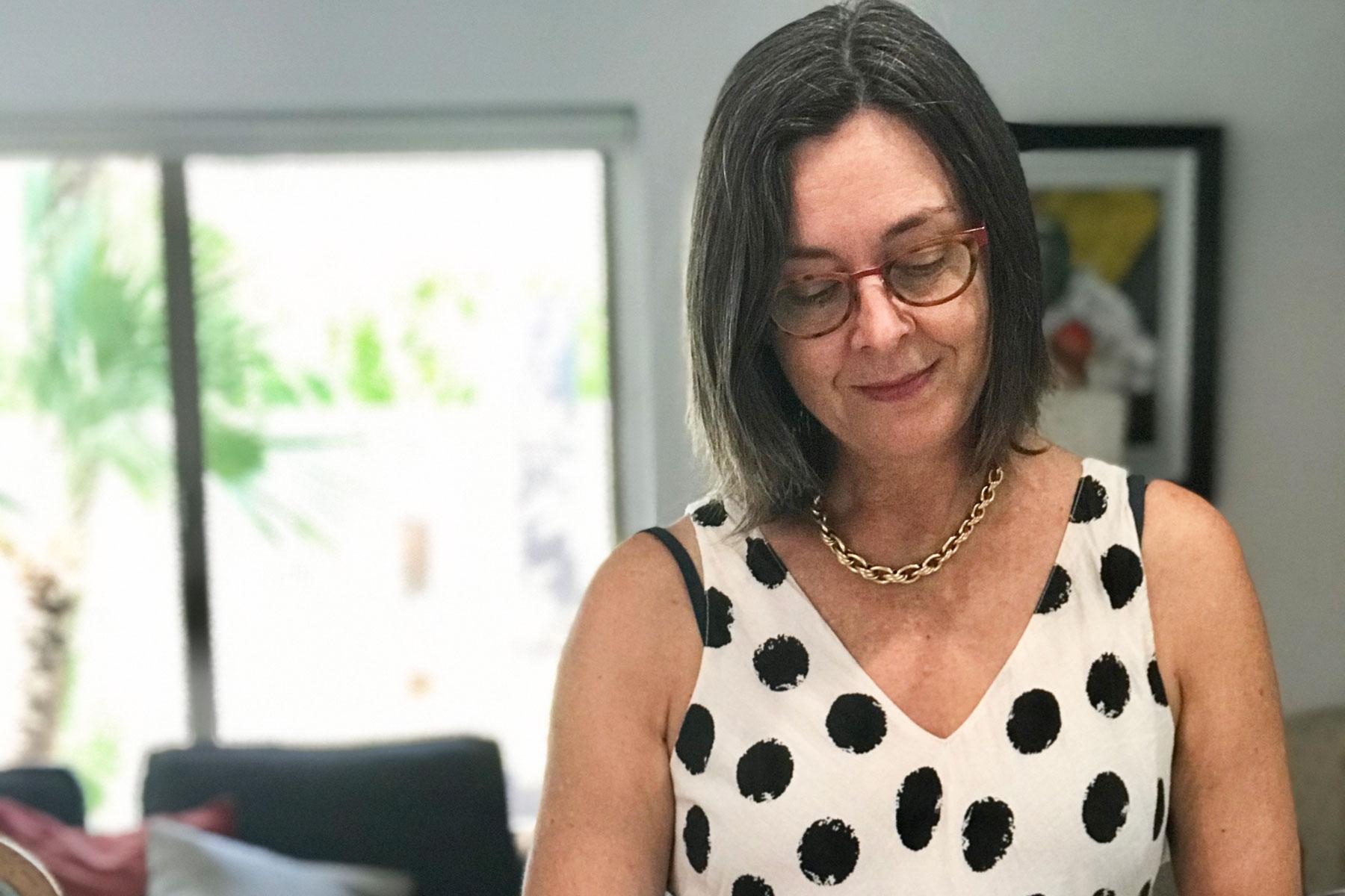 Andrea preparing amandine aux poires2