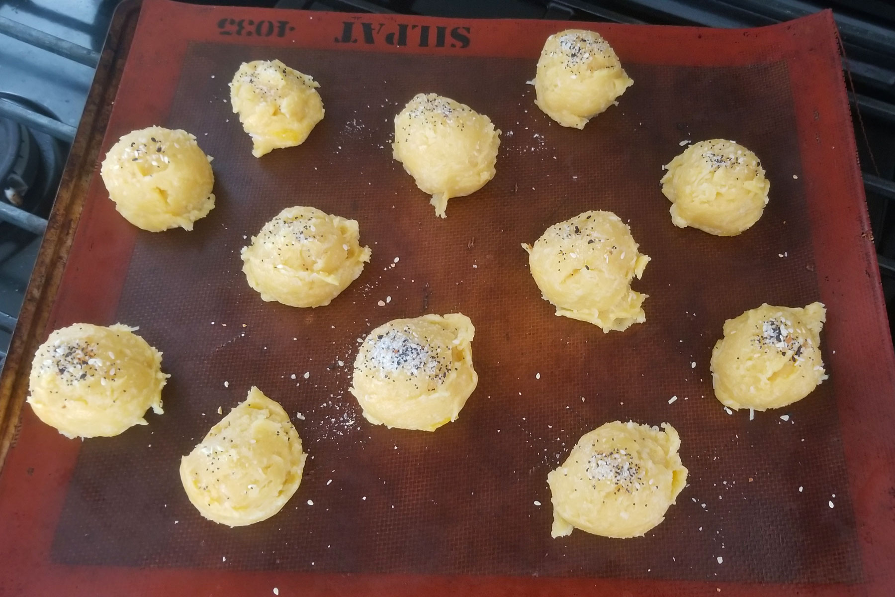 Andrea s gougeres ready for the oven