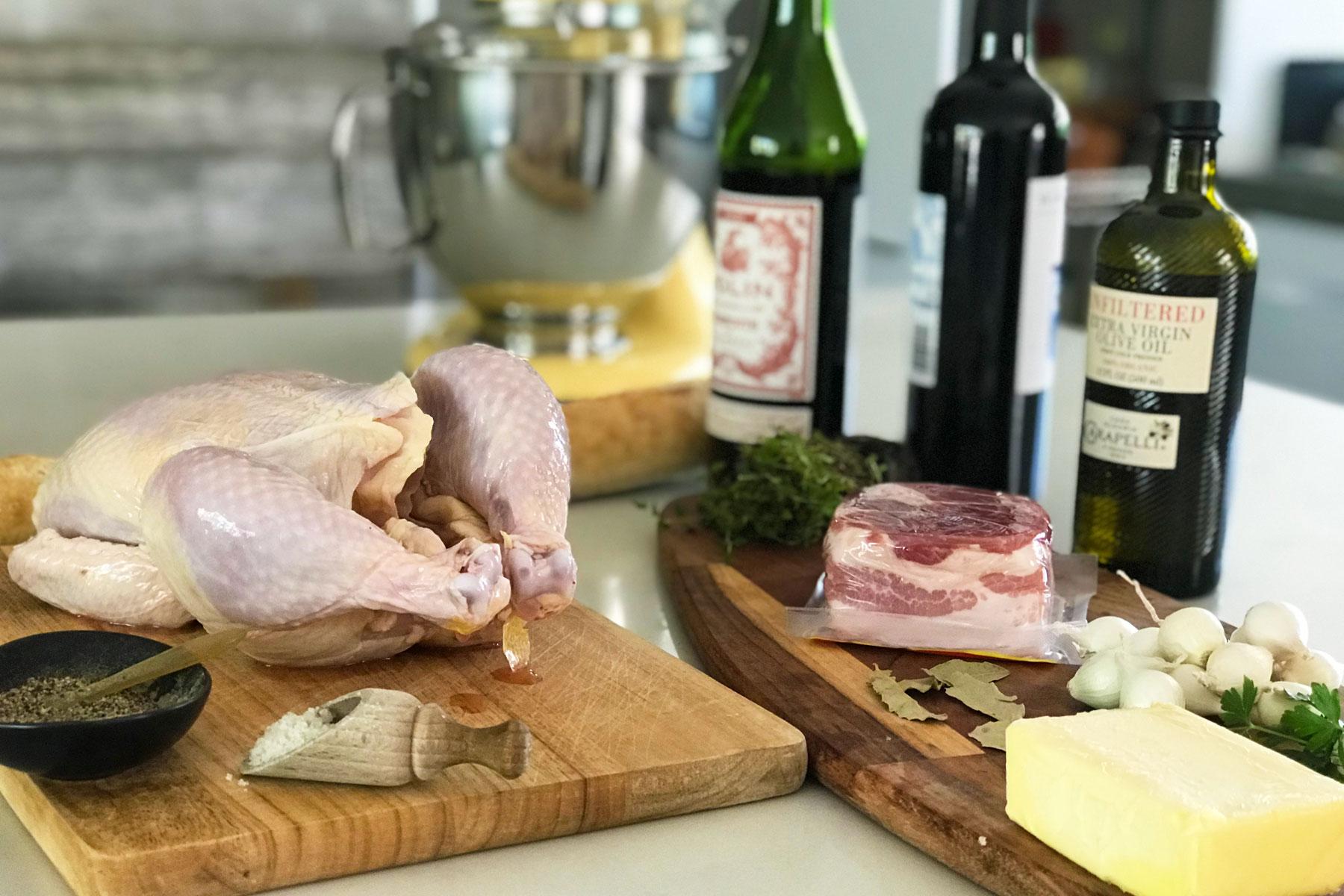 Andrea s ingredients for coq au vin