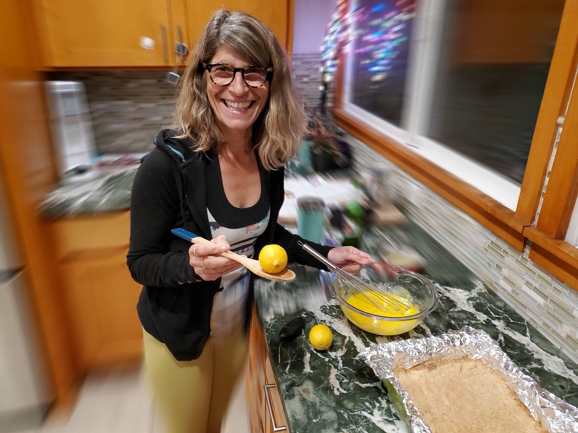 5 making lemon bars