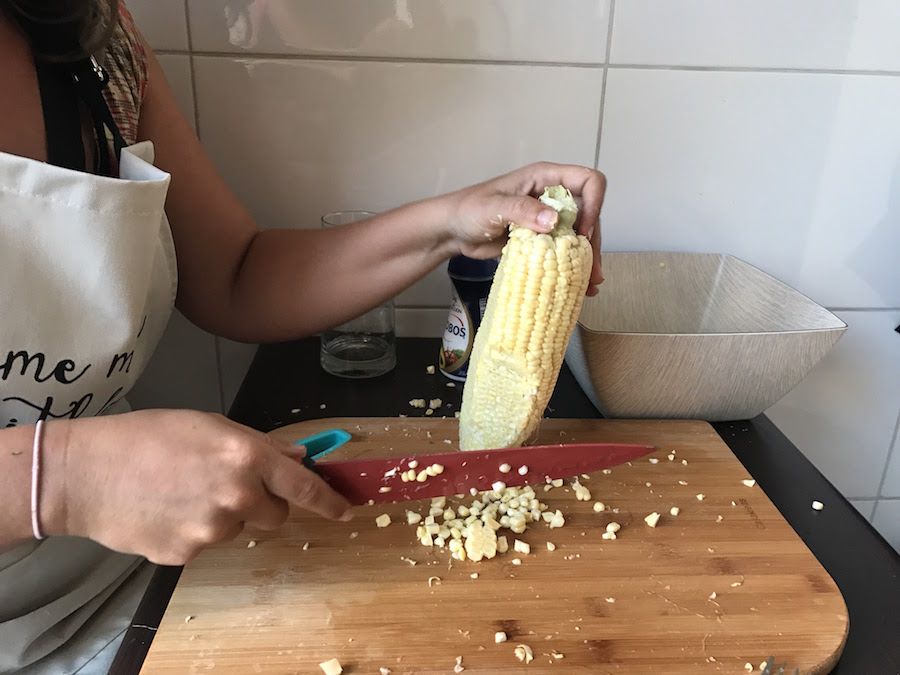 3 preparing corn