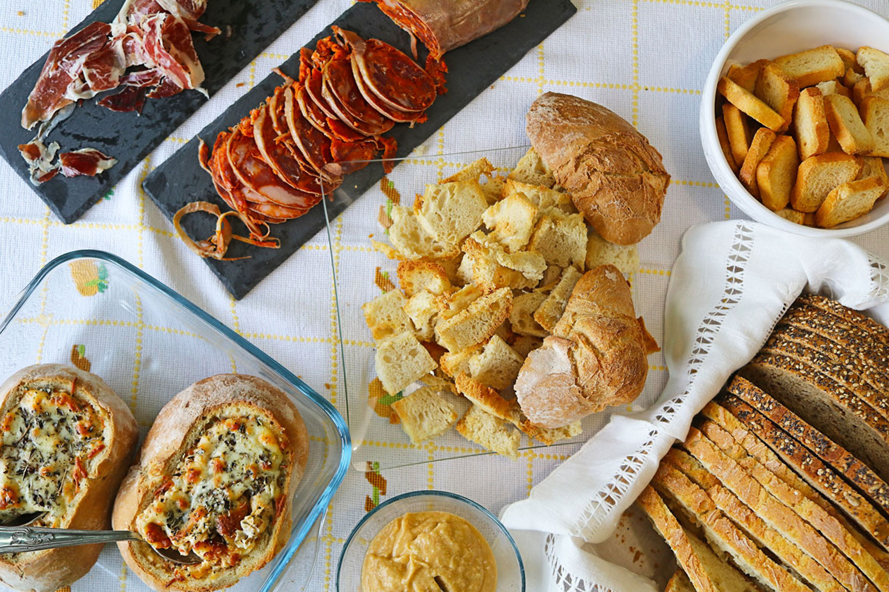 Bread and meats web