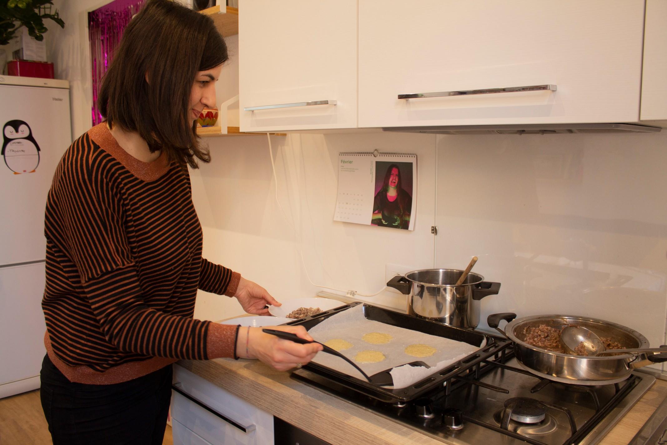 Laura perparing risotto